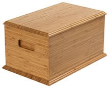 Light wood Casket